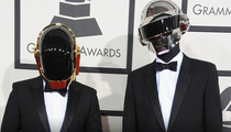 Daft Punk -- UNMASKED at LAX!! Robots Can't Fly International