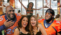 Denver Broncos Players -- RENTING OUT HOOTERS ... For Family to Watch Super Bowl