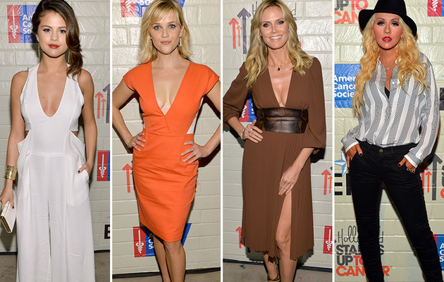 Selena, Reese and Heidi Flaunt Cleavage at Cancer Event