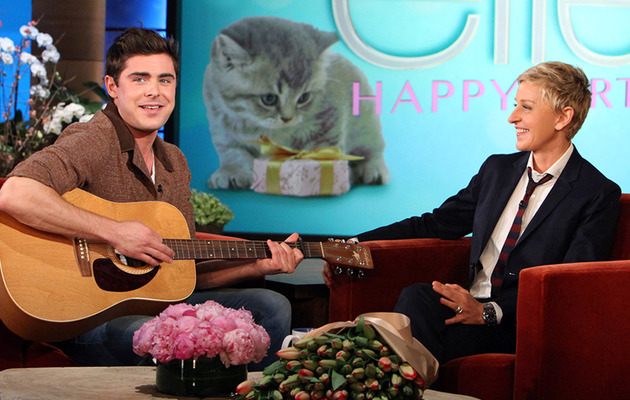 Watch Zac Efron Serenade Ellen DeGeneres for Her Birthday