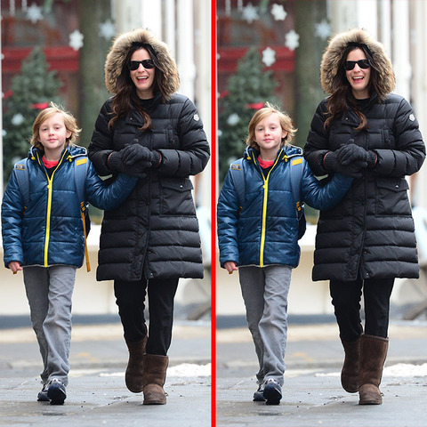 Can you spot the THREE differences in the Liv Tyler and her son picture?