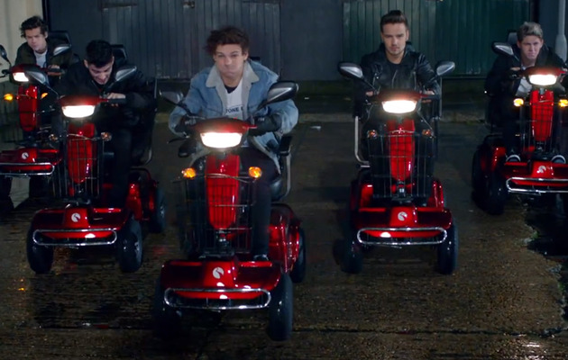 """One Direction Makes """"Midnight Memories"""" With Scooter Drag Race!"""