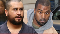 George Zimmerman -- I Wanna Fight Kanye West ... For Beating Up 'Defenseless People'