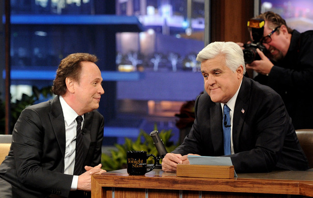 "Jay Leno Says Tearful Goodbye to ""Tonight Show"" After 22 Years"