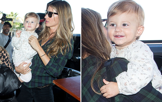 Gisele Bundchen & Daughter Vivian Travel In Style!