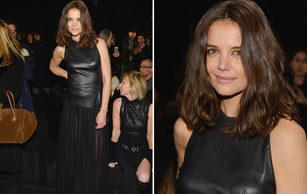 Katie Holmes Shows Off Her Sexy Side At New York Fashion Week