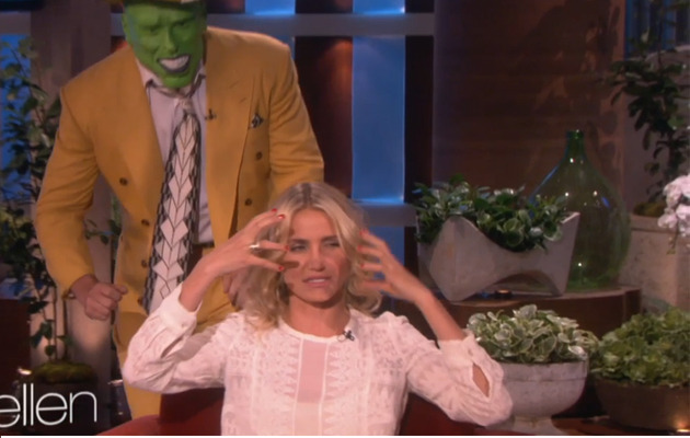 "Ellen DeGeneres Pranks Cameron Diaz With ""The Mask"""