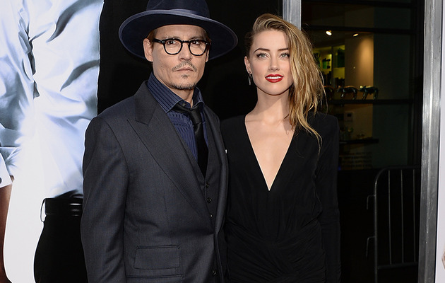 Johnny Depp & Amber Heard Share Rare PDA -- See Her HUGE Engagement Ring!