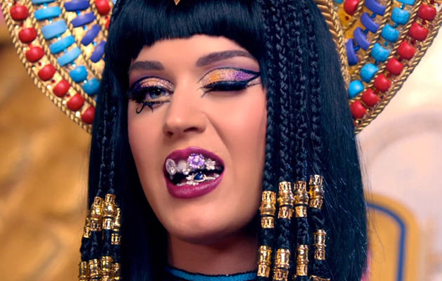 "Katy Perry Rocks Ridiculous Grill for ""Dark Horse"" Music Video Teaser"