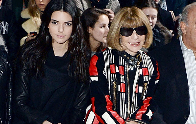 Kendall Jenner Sits Front Row with Anna Wintour at London Fashion Week