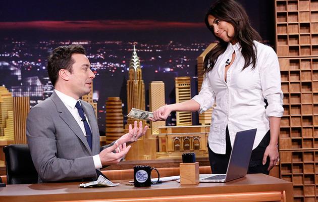 "Kim Kardashian, Lindsay Lohan Appear on Jimmy Fallon's ""Tonight Show"" Debut"