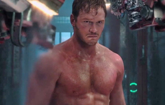 "Chris Pratt Flaunts Sweaty Six-Pack In ""Guardians of the Galaxy"" Trailer"