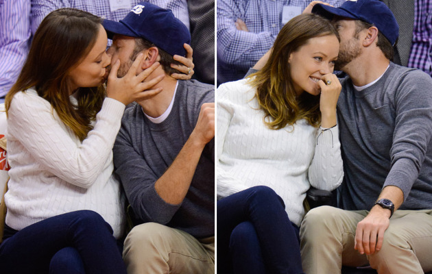 Olivia Wilde & Jason Sudeikis Major PDA at Basketball Game!