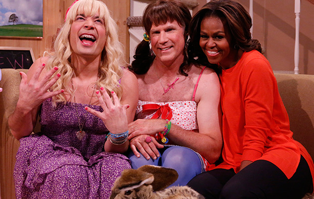Jimmy Fallon & Will Ferrell Do Drag with Michelle Obama