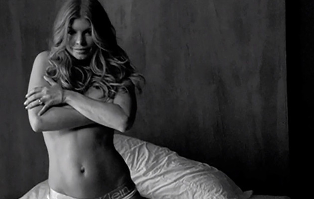 Fergie Goes Topless in Calvin Klein Underwear -- See the Sexy Video!