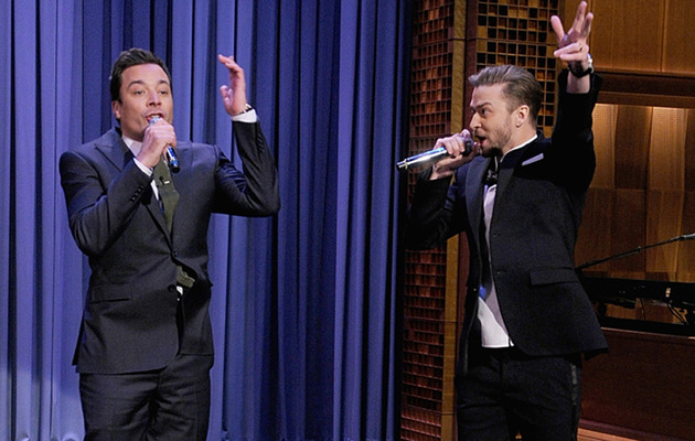"Watch Justin Timberlake and Jimmy Fallon Perform ""History of Rap 5"""