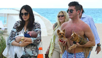 Simon Cowell -- 10-Day-Old Eric Flies and Soaks in Rays