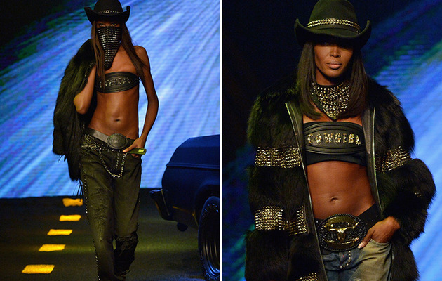 Naomi Campbell Flaunts Killer Abs at Milan Fashion Week