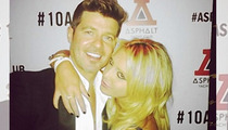 Butt Grab Chick to Robin Thicke -- I'm Still Thirsty As Hell ... Let's Grab That Drink