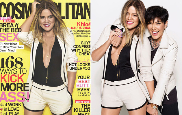 Khloe Kardashian Shows Major Skin, Talks Dealing With Drama In Cosmo