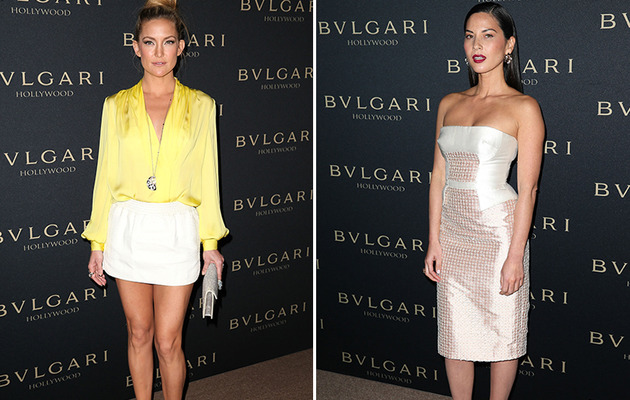 "Kate Hudson & Olivia Munn Stun at BVLGARI ""Decades Of Glamour"" Oscar Party!"