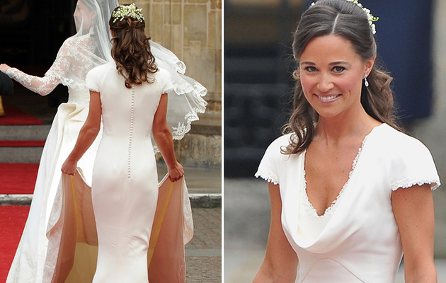 "Pippa Middleton Says Royal Wedding Dress Fit ""Too Well,"" Jokes About Her Famous…"