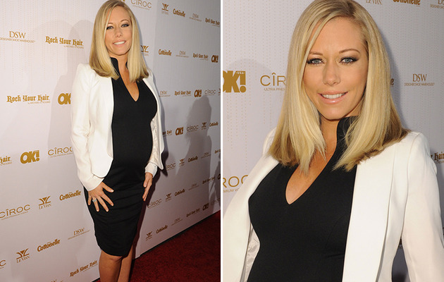 Kendra Wilkinson Brings Big Baby Bump to Pre-Oscar Bash!