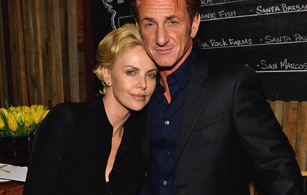 Charlize Theron & Sean Penn Show PDA at Pharrell Williams' Pre-Oscar Bash