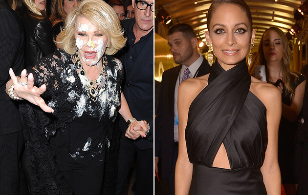 Joan Rivers Gets Attacked with Cake, While Nicole Richie Stuns at QVC Event