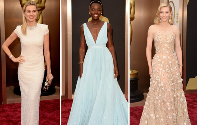 2014 Oscars: Pale Pastel Gowns Rule the Red Carpet!