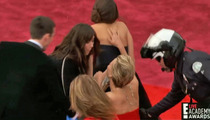 Jennifer Lawrence -- Oscars Red Carpet Crash [Video]