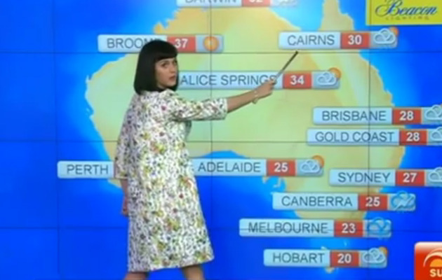 Katy Perry Does the Weather In Australia, Hilarity Ensues!