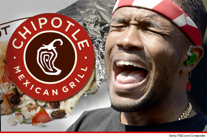Chipotle Logo frank ocean sued -- he didn't want chipotle logo in chipotle ad