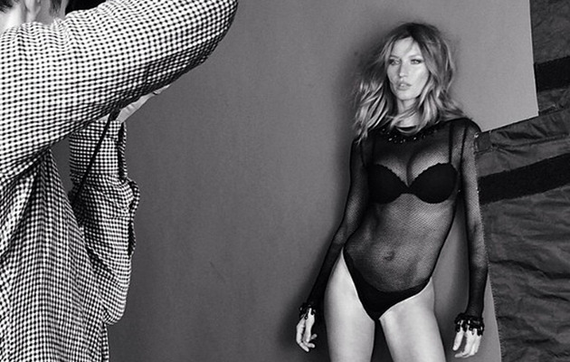 Gisele Bundchen Flaunts Super Hot Figure in Sheer Bodysuit!