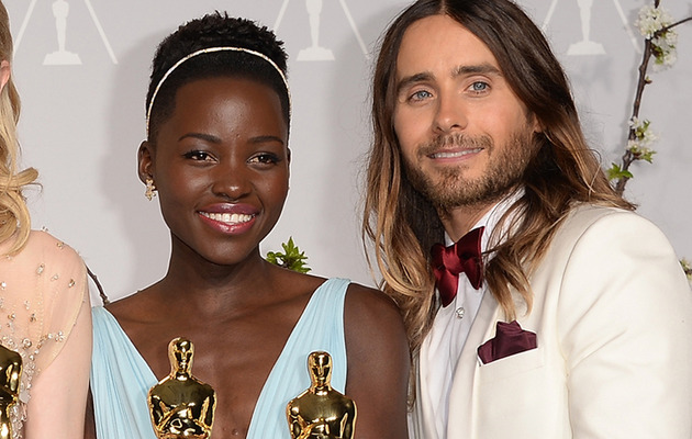 Lupita Nyong'o and Jared Leto Take Cute Selfies in Paris!