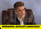 Justin Bieber -- Vulgar Attack on Court Reporter