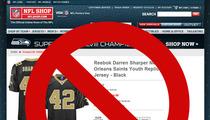 Darren Sharper -- NFL Pulls Plug On Jersey Sales [Update: It's Back]