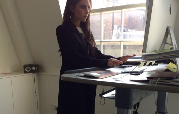 Victoria Beckham Tries Out A Treadmill Desk -- In Heels!