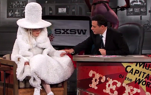 Lady Gaga Talks About Being Fat, Wears Dress Made of Coffee Filters