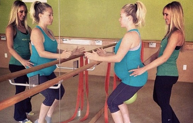 Kendra Wilkinson Shows Off BIG Baby Bump at the Gym