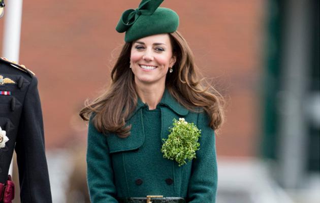 Kate Middleton Celebrates St. Patrick's Day In Green