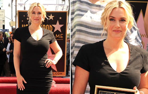 Kate Winslet Debuts Slim Post-Baby Body at Her Walk of Fame Ceremony!