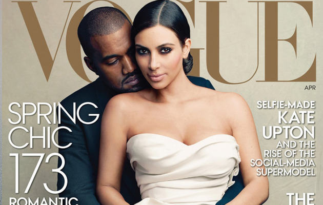It Really Happened -- Kim Kardashian and Kanye West Cover Vogue!