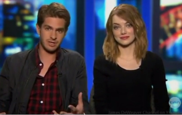 "Andrew Garfield & Emma Stone Talk About His ""Spider-Man"" Package"