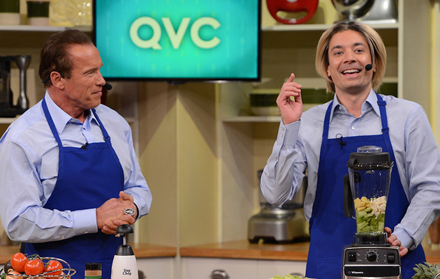 Arnold Schwarzenegger Recalls Iconic Movie Lines in QVC Spoof with Jimmy Fallon