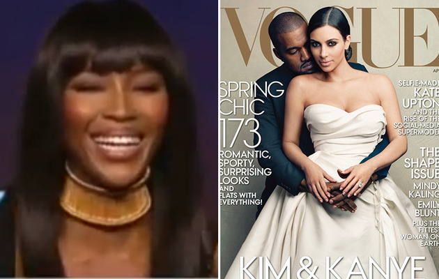 Video: Naomi Campbell Laughs Off Kim Kardashian & Kanye West's Vogue Cover
