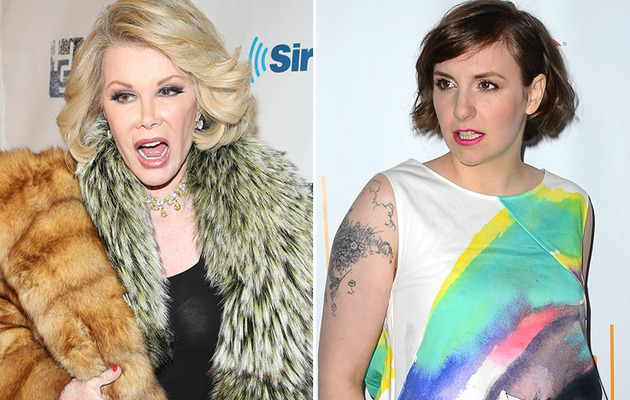 "Joan Rivers Blasts Lena Dunham's Weight: She's Saying ""Stay Fat, Get Diabetes,…"