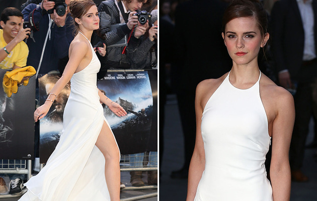 "Emma Watson Stuns in White at ""Noah"" Premiere!"