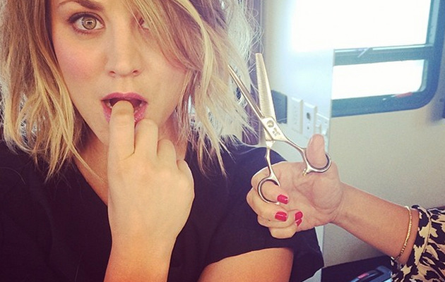 Kaley Cuoco Chops Off Blonde Locks -- See Her Short New 'Do!