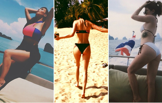 Kim Kardashian and Kendall & Kylie Jenner Are All About Bikinis in Thailand!